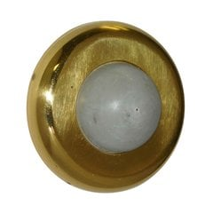 Convex Wrought Wall Bumper Polished Brass