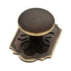 Augustine 2-3/8 Inch Diameter Bronze W/ Gold Highlights Cabinet Knob