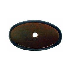 Aspen 1-3/4 Inch Length Mahogany Bronze Back-plate <small>(#M1443)</small>