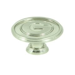 Collegiate 1-1/2 Inch Diameter Satin Nickel Cabinet Knob <small>(#CL81097-SN-GEO)</small>