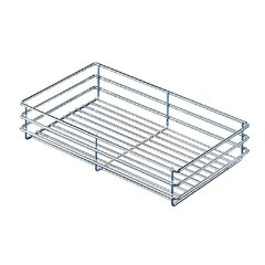 Pantry Storage Basket 4-3/8 inch W Chrome