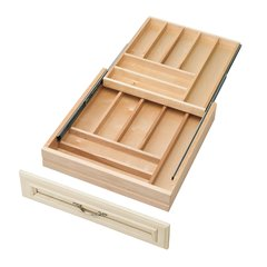 """Rev-A-Shelf Tiered Double Cutlery Drawer For 24"""" Cabinet 4WTCD-24-1"""