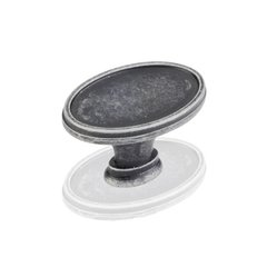Regency 1-9/16 Inch Diameter Swedish Iron Machined Cabinet Knob <small>(#1099SIM)</small>