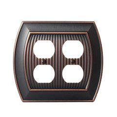 Allison Two Receptacle Wall Plate Oil Rubbed Bronze