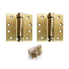 LB4310C-400 Square Corner Single Acting Spring Hinge-Brass
