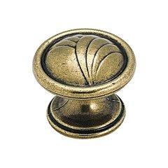"""True Elegance Knob 1-1/4"""" Dia. Burnished Brass <small>(#BP1356O77)</small>"""