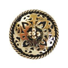 Jewel 1-1/16 Inch Diameter Brite Brass Cabinet Knob