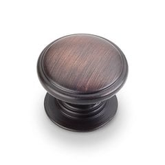Durham 1-1/4 Inch Diameter Dark Brushed Antique Copper Cabinet Knob