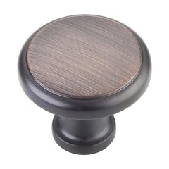 Gatsby 1-1/8 Inch Diameter Dark Brushed Antique Copper Cabinet Knob <small>(#3970-DBAC)</small>