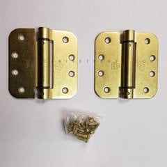 LB4312-400 5/8 inch Radius Corner Single Act Spring Hinge-Brass