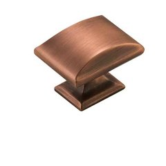 Candler 1-9/16 Inch Diameter Brushed Copper Cabinet Knob <small>(#BP29368BC)</small>