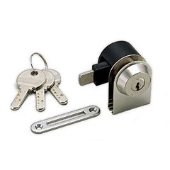 1300Gl Glass Lock Keyed Different-Satin Nickel