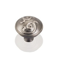 Kensington 1-3/8 Inch Diameter Bright Nickel Brushed with Dull Lacquer Cabinet Knob