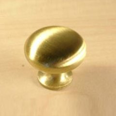 Saturn 1-1/4 Inch Diameter Satin Brass Cabinet Knob <small>(#12016-4)</small>