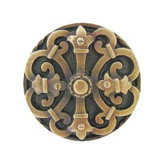 Olde Worlde 1-5/8 Inch Diameter Antique Brass Cabinet Knob