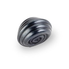 Lille 1-1/4 Inch Diameter Dark Antique Copper Machined Cabinet Knob