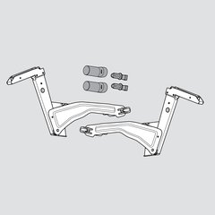 Aventos HS Arm Assembly Set
