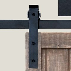 Basic Barn Door Rolling Hardware Smooth Iron <small>(#BH1BI)</small>