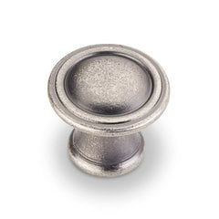 Cordova 1-1/16 Inch Diameter Bright Nickel Brushed with Dull Lacquer Cabinet Knob <small>(#Z110-BNDL)</small>