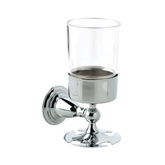 Victorian Toothbrush and Tumbler Holder Polished Chrome <small>(#75056)</small>