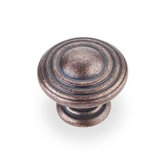 Bremen 2 1-1/4 Inch Diameter Dark Machined Antique Copper Cabinet Knob <small>(#137DMAC)</small>