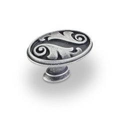Regency 1-9/16 Inch Diameter Swedish Iron Machined Cabinet Knob