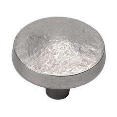 Bedrock 1-1/4 Inch Diameter Flat Nickel Cabinet Knob