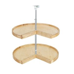 Wood Classic Pie Cut Shelf Set 24""