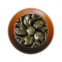 English Garden 1-1/2 Inch Diameter Brite Brass Cabinet Knob
