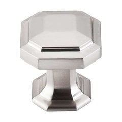 Chareau 1-1/8 Inch Diameter Brushed Satin Nickel Cabinet Knob