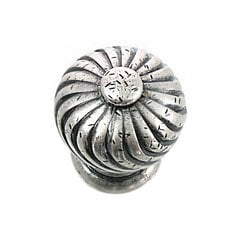 French Twist 1-1/4 Inch Diameter Antique Pewter Cabinet Knob