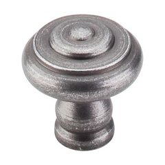 Normandy 1-1/8 Inch Diameter Pewter Cabinet Knob <small>(#M604)</small>