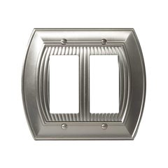 Allison Two Rocker Wall Plate Satin Nickel