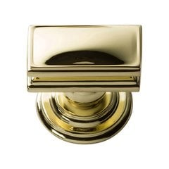 "Campaign Knob 1-1/2"" Long Polished Brass"