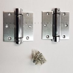 LB4310C-350 Square Corner Single Act Spring Hinge-Chrome