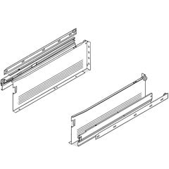 "Metabox Slide 6""H x 22 inch L White with Front Fix Brackets"
