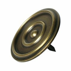 "Large Double-Ring Clavo 1-7/8"" Dia - Antique Brass"