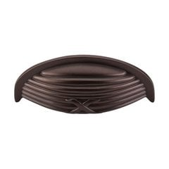Edwardian 3 Inch Center to Center Oil Rubbed Bronze Cabinet Cup Pull <small>(#M940)</small>