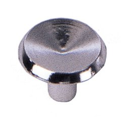 Modern Standards 1 Inch Diameter Polished Chrome Cabinet Knob <small>(#20126)</small>