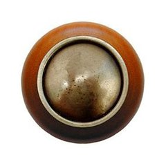 Classic 1-1/2 Inch Diameter Antique Brass Cabinet Knob <small>(#NHW-761C-AB)</small>