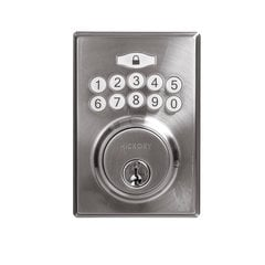 Contemporary Electronic Keypad Deadbolt Grade 3 Satin Nickel