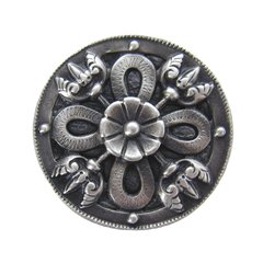 Jewel 1-1/8 Inch Diameter Antique Pewter Cabinet Knob