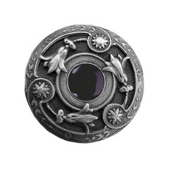 Jewel 1-1/4 Inch Diameter Antique Pewter Cabinet Knob <small>(#NHK-161-AP-O)</small>