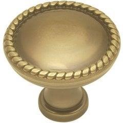 "Annapolis Knob 1-1/4"" Dia Sherwood Antique Brass"