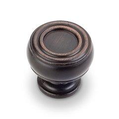 Bremen 2 1-3/16 Inch Diameter Dark Brushed Antique Copper Cabinet Knob <small>(#127DBAC)</small>