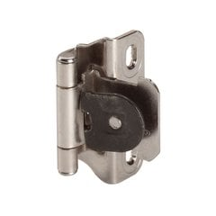 "Single Demountable 1/4"" Overlay Hinge Nickel-Pair"