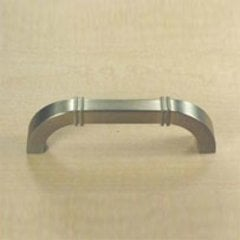 Country 3-3/4 Inch Center to Center Dull Satin Nickel Cabinet Pull