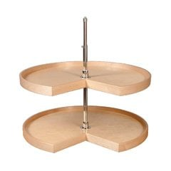 32 inch Pie Cut Lazy Susan - 2 Shelf
