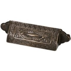 Eastlake Inspirations 3-1/2 Inch Center to Center Dark Glaze Cabinet Cup Pull