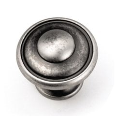 Windsor 1-1/8 Inch Diameter Antique Pewter Cabinet Knob <small>(#24106)</small>